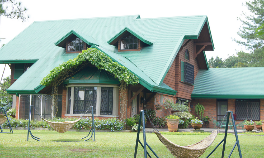 Full view of the Alcantara residence whose family owns Casa San Pablo