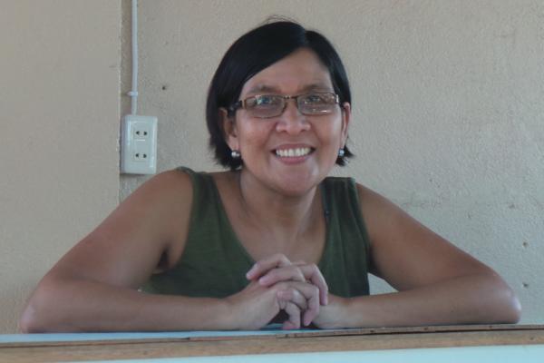 Marilou Zarraga, Doc Ogie's gracious wife.