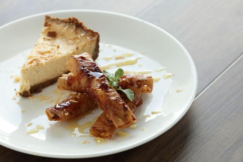 Quezo de Bola Cheesecake with Banana-Langka Turron
