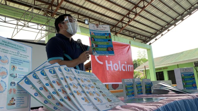 Holcim supported distribution of information materials on proper hand hygiene to help protect communities against Covid-19 in 2020