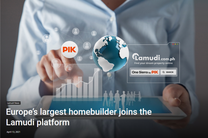 The Largest Homebuilder in Europe Expands its Online Presence in the Philippines